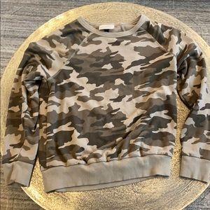 Camo Crew Neck Sweatshirt XS
